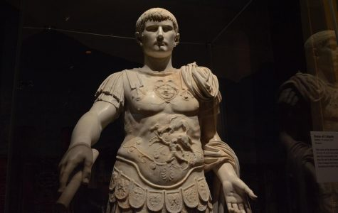 A marble statue of the Roman Emperor Caligula from the First Century A.D. Pompeii: Exhibition (Phoenix)