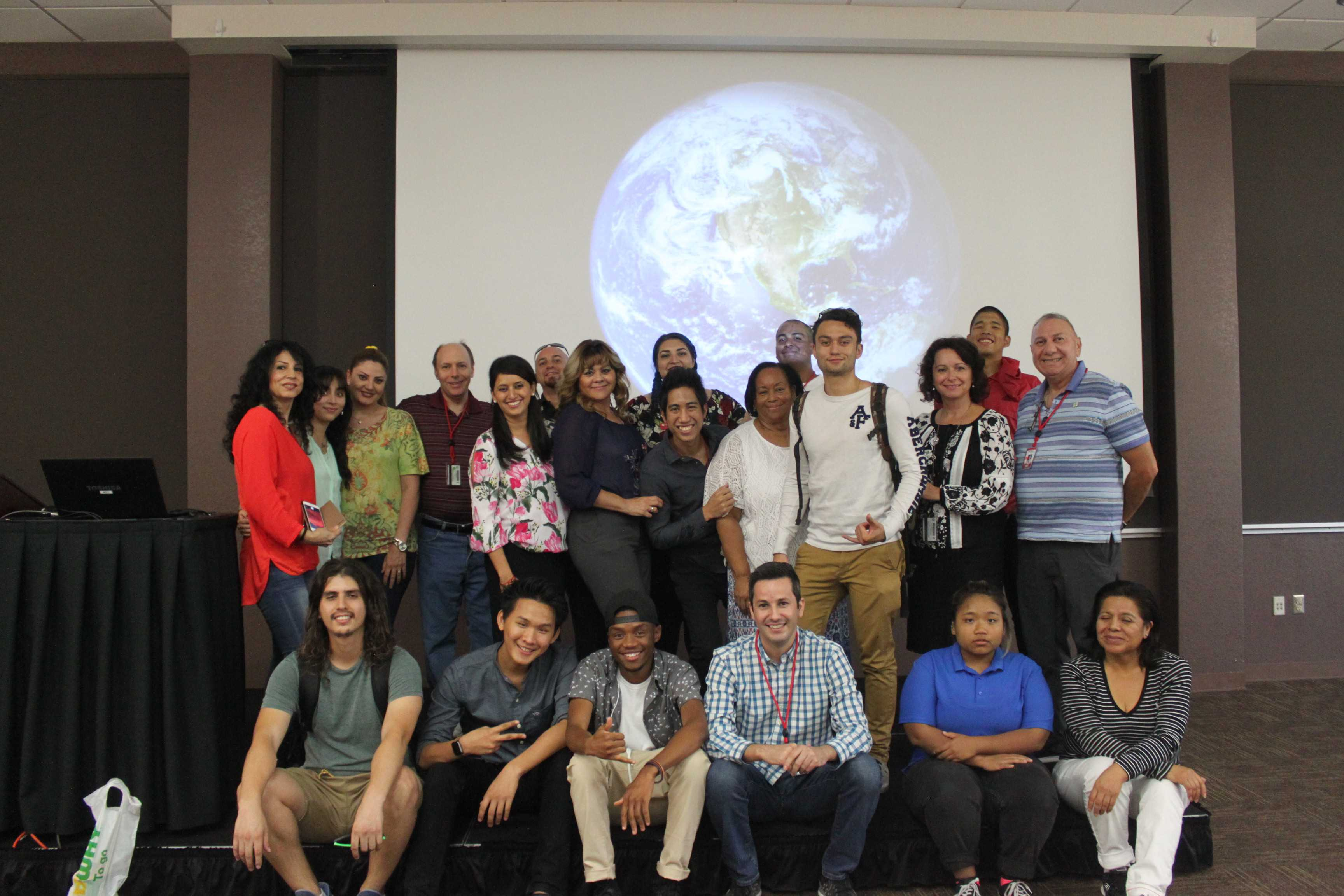 Members of International Club gathered together to share stories, food and laughs.
