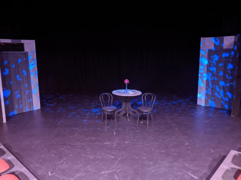 "The set of ""Sure Thing"", the first of six one-act plays in ""All in the Timing"" October 11, 2019 in Glendale, Ariz."