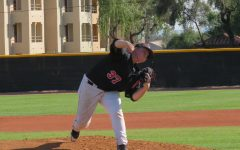 Gauchos pitcher Dylan Anglin delivers a pitch against the Arizona Christian University Firestorm March 6, 2020 in Glendale, AZ. The Gauchos would win the game 2-1.
