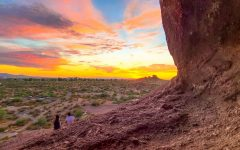 Hole in the Rock at Papago Park, Aug. 4, 2020 in Phoenix, Ariz. (Ethan Caraway/The Voice).